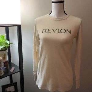 Vintage Revlon Ivory Long Sleeve Shirt - M